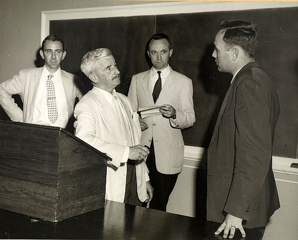Gwynn and Blotner with Faulkner at the University of Virginia